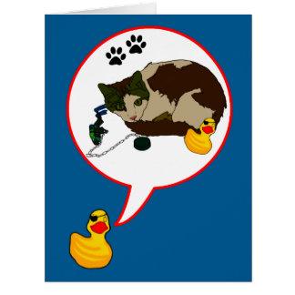 """¡Amantes del pato, """"Duckie dice! """" Tarjeta De Felicitación Grande"""