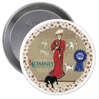 Amantes del perro para Romney Pin Redondo 10 Cm