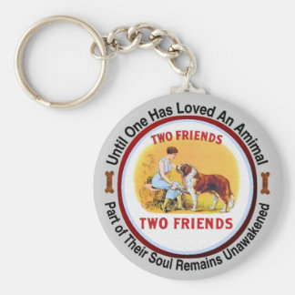 Amantes del perro y del mascota de St Bernard Llavero Redondo Tipo Pin