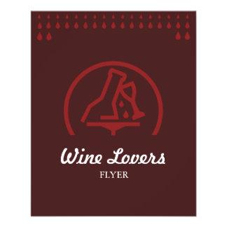 "Amantes del vino folleto 4.5"" x 5.6"""