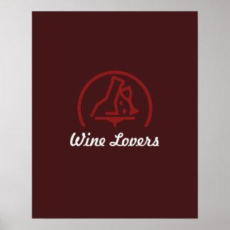 Amantes del vino oscuros póster