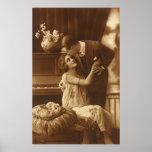Amantes del vintage, música romántica romántica posters