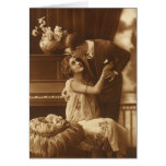 Amantes del vintage, música romántica romántica tarjetas