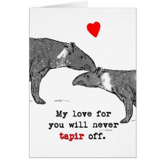 Amantes divertidos del Tapir de la tarjeta de la