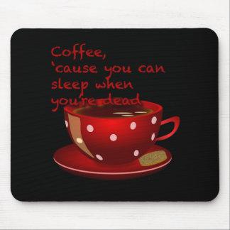 Amantes divertidos Mousepad del café sólo rojo y