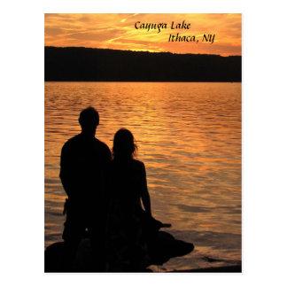 Amantes en el lago Cayuga Tarjetas Postales