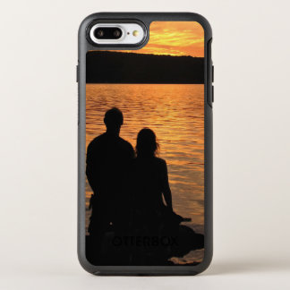 Amantes en el lago sunset funda OtterBox symmetry para iPhone 7 plus
