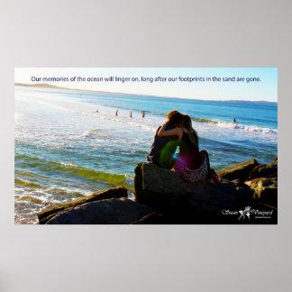 Amantes en el poster de la playa