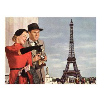 Amantes en la invitación de París