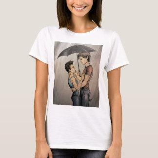 Amantes en la lluvia playera