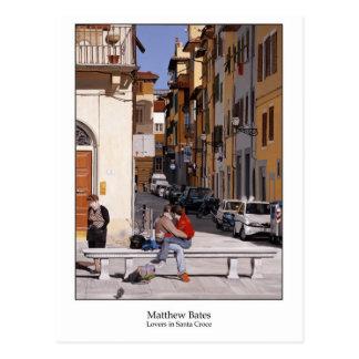 Amantes en Santa Croce Tarjeta Postal