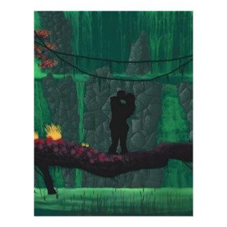 """Amantes en un paraíso perdido folleto 8.5"""" x 11"""""""