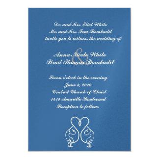 Amantes estilizados del gato que casan la invitación 12,7 x 17,8 cm
