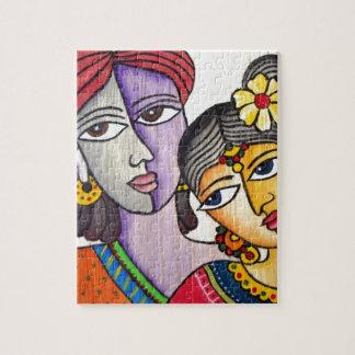 Amantes eternos - Radha Krishna Puzzle Con Fotos