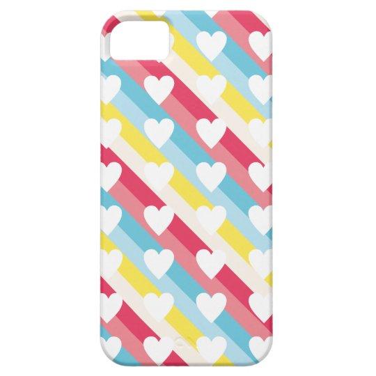 Amantes hermosos rosados Lov de la tarjeta del día Funda Para iPhone SE/5/5s