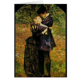 Amantes hugonotes, tarjeta de felicitación románti
