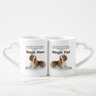 Amantes mamá del beagle y tazas del papá tazas para parejas
