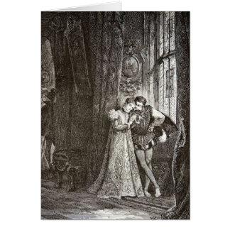 Amantes Maria Estuardo y Francisco del vintage II Tarjeta