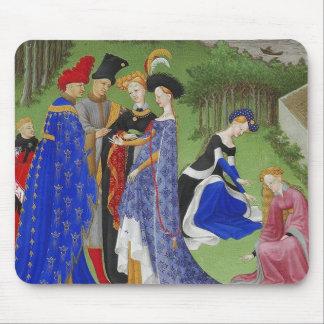 Amantes medievales alfombrilla de raton