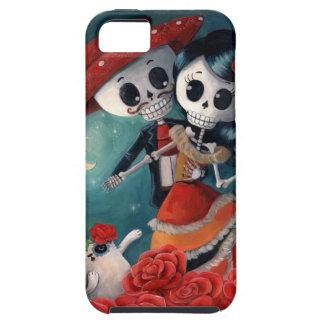 Amantes mexicanos esqueléticos muertos iPhone 5 funda