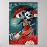 Amantes mexicanos esqueléticos muertos impresiones