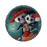 Amantes mexicanos esqueléticos muertos latas de caramelos