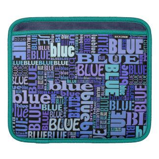 Amantes negros y azules, azules elegantes funda para iPads