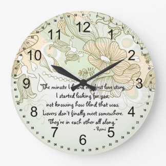Amantes Reloj Redondo Grande