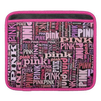 Amantes rosados y negros, rosados elegantes fundas para iPads