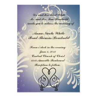 Amantes salvajes del gato que casan la invitación invitación 12,7 x 17,8 cm