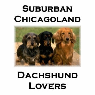 Amantes suburbanos del Dachshund de Chicagoland Fotoescultura Vertical