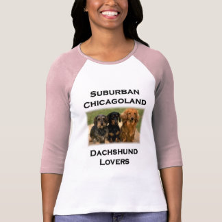 Amantes suburbanos del Dachshund de Chicagoland Playera
