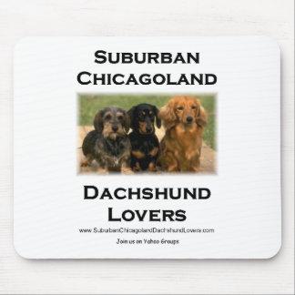 Amantes suburbanos del Dachshund de Chicagoland Mouse Pad