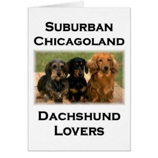 Amantes suburbanos del Dachshund de Chicagoland Tarjeta De Felicitación