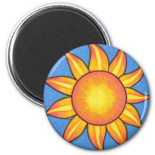 Amantes Sun de Sun Imán Redondo 5 Cm