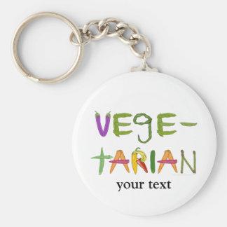 Amantes vegetarianos del Veggie de las verduras Llavero Redondo Tipo Pin