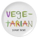 Amantes vegetarianos del Veggie de las verduras Plato Para Fiesta