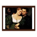 Amantes venecianos de Bordone París (la mejor cali Tarjetas Postales