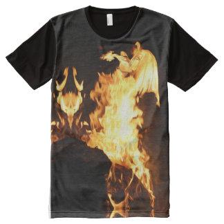 Amanti, la camiseta impresa lovers_fire playera con estampado integral