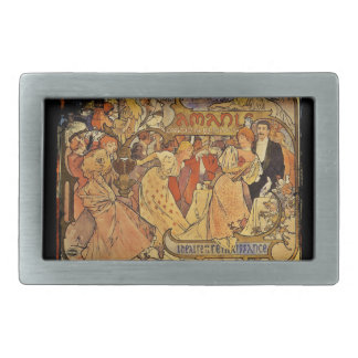 Amants Theatre Party with Champagne Rectangular Belt Buckle