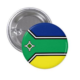 Amapá, botón brasileño de la bandera del estado pin redondo de 1 pulgada