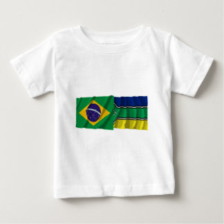 Amapá y banderas que agitan del Brasil Remeras