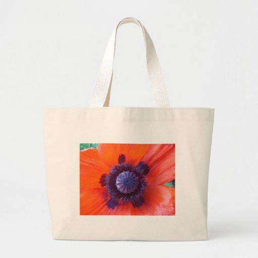 amapola, amapola roja oriental bolsas de mano