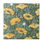Amapola amarilla azulejos ceramicos