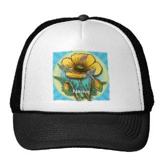 Amapola amarilla de la libélula gorro de camionero