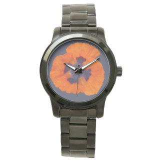Amapola anaranjada 1 del escarlata reloj