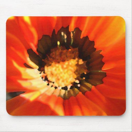 Amapola anaranjada Mousepad Tapete De Ratones