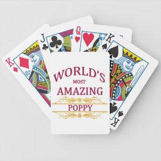 Amapola asombrosa baraja de cartas