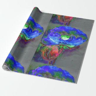 Amapola azul papel de regalo