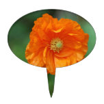 Amapola de California anaranjada Figura Para Tarta